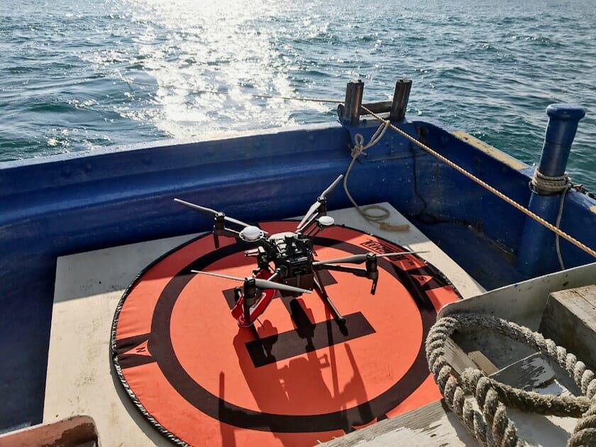 ドローンにて海での撮影